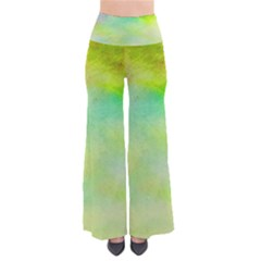 Abstract Yellow Green Oil Pants