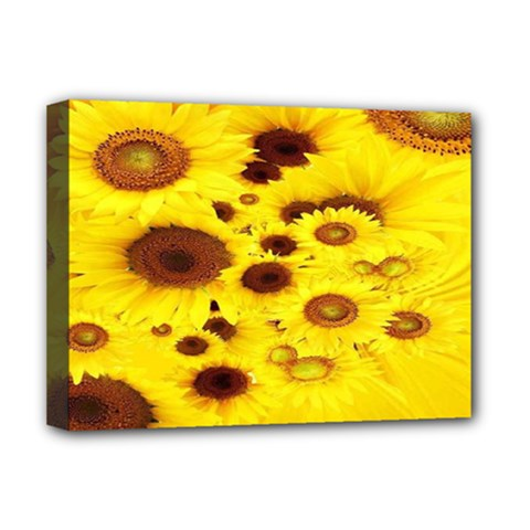 Beautiful Sunflowers Deluxe Canvas 16  X 12