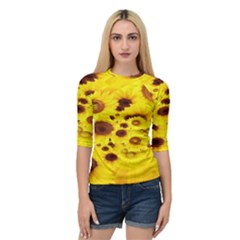 Beautiful Sunflowers Quarter Sleeve Tee