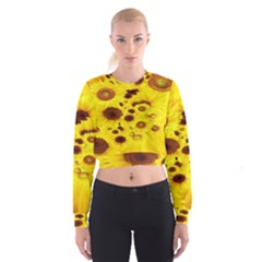 Beautiful Sunflowers Cropped Sweatshirt