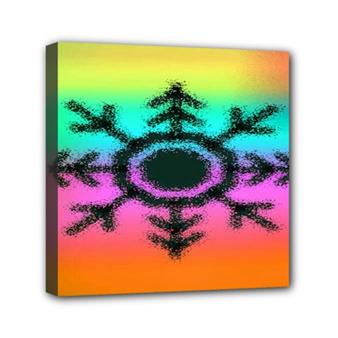 Vector Snowflake Mini Canvas 6  X 6  by BangZart