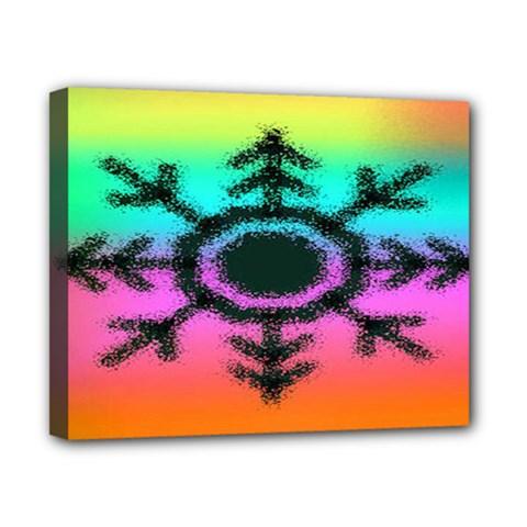 Vector Snowflake Canvas 10  X 8