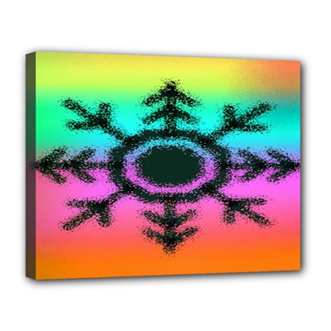 Vector Snowflake Canvas 14  X 11  by BangZart