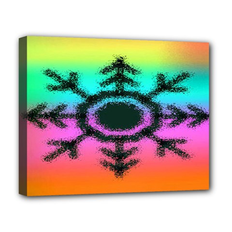 Vector Snowflake Deluxe Canvas 20  X 16   by BangZart