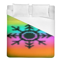 Vector Snowflake Duvet Cover (full/ Double Size) by BangZart