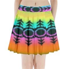Vector Snowflake Pleated Mini Skirt