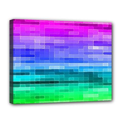Pretty Color Canvas 14  X 11  by BangZart