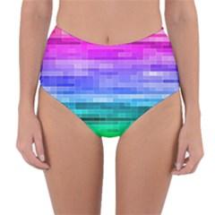 Pretty Color Reversible High Waist Bikini Bottoms
