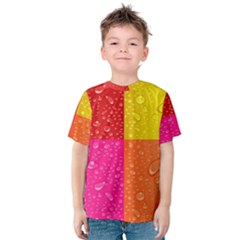 Color Abstract Drops Kids  Cotton Tee