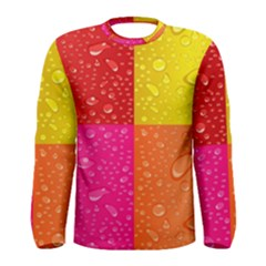 Color Abstract Drops Men s Long Sleeve Tee