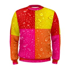 Color Abstract Drops Men s Sweatshirt