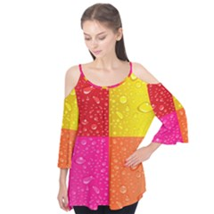 Color Abstract Drops Flutter Tees by BangZart