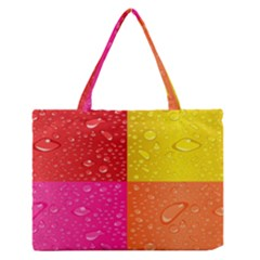 Color Abstract Drops Medium Zipper Tote Bag