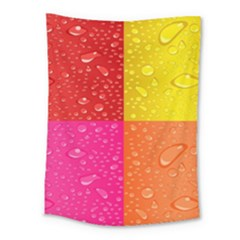 Color Abstract Drops Medium Tapestry by BangZart