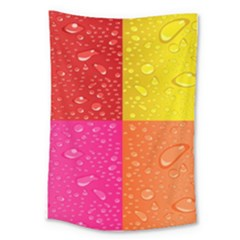 Color Abstract Drops Large Tapestry by BangZart