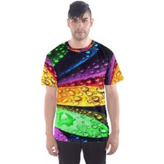 Abstract Flower Men s Sports Mesh Tee