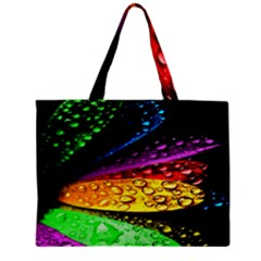 Abstract Flower Zipper Mini Tote Bag by BangZart