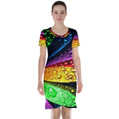 Abstract Flower Short Sleeve Nightdress