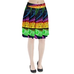 Abstract Flower Pleated Skirt