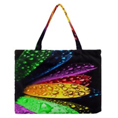 Abstract Flower Medium Zipper Tote Bag