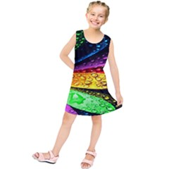 Abstract Flower Kids  Tunic Dress