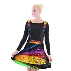 Abstract Flower Suspender Skater Skirt