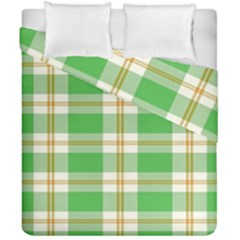 Abstract Green Plaid Duvet Cover Double Side (california King Size) by BangZart