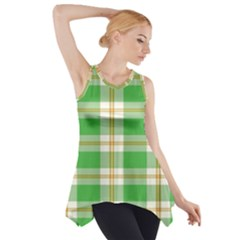 Abstract Green Plaid Side Drop Tank Tunic by BangZart