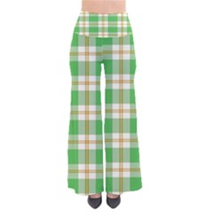 Abstract Green Plaid Pants