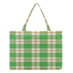Abstract Green Plaid Medium Tote Bag by BangZart