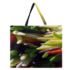 Bright Peppers Zipper Large Tote Bag by BangZart
