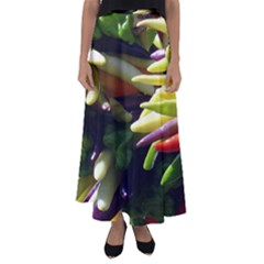 Bright Peppers Flared Maxi Skirt