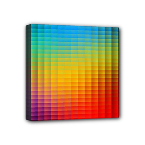 Blurred Color Pixels Mini Canvas 4  X 4  by BangZart