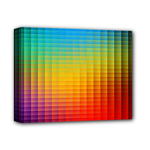 Blurred Color Pixels Deluxe Canvas 14  X 11  by BangZart