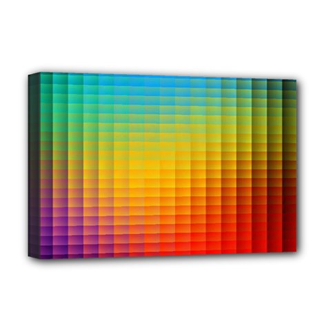 Blurred Color Pixels Deluxe Canvas 18  X 12   by BangZart