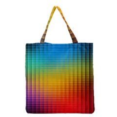 Blurred Color Pixels Grocery Tote Bag by BangZart