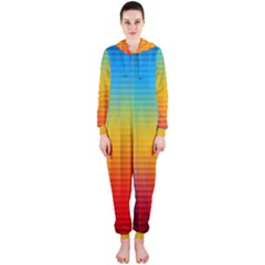 Blurred Color Pixels Hooded Jumpsuit (ladies)  by BangZart