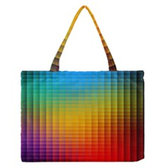 Blurred Color Pixels Medium Zipper Tote Bag
