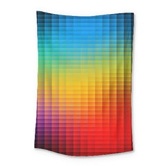 Blurred Color Pixels Small Tapestry