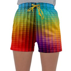 Blurred Color Pixels Sleepwear Shorts