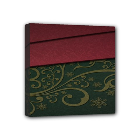 Beautiful Floral Textured Mini Canvas 4  X 4  by BangZart
