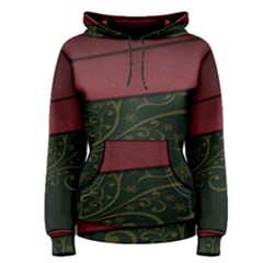 Beautiful Floral Textured Women s Pullover Hoodie