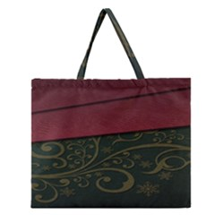 Beautiful Floral Textured Zipper Large Tote Bag