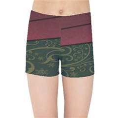 Beautiful Floral Textured Kids Sports Shorts