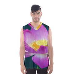 Pink Lotus Flower Men s Basketball Tank Top
