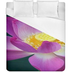 Pink Lotus Flower Duvet Cover (california King Size)