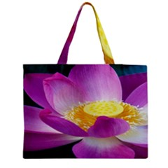 Pink Lotus Flower Medium Tote Bag