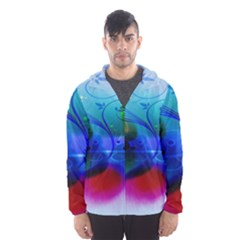 Abstract Color Plants Hooded Wind Breaker (men)