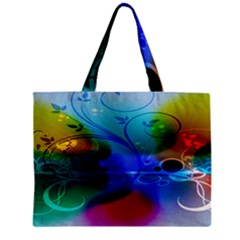 Abstract Color Plants Zipper Mini Tote Bag by BangZart