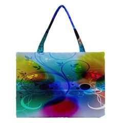 Abstract Color Plants Medium Tote Bag by BangZart